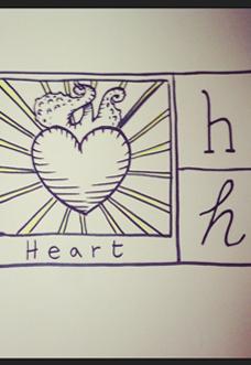 heart h abecedario straparlato