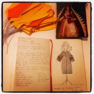 """schizzo preparatorio """"squAMATI"""" sketch book Elena Borghi"""