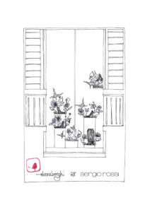 """Poetic Surrealism"" window sketch"