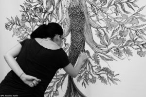 """""""Under Giant Tree"""" live painting"""