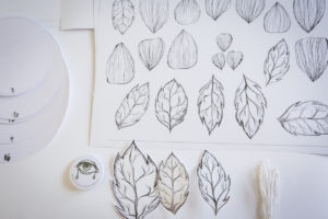 #BloomingFlowers papercraft for presentation of new jewelry collection by CO|TE for Stroili - drawing