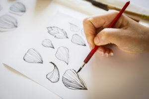#BloomingFlowers papercraft for presentation of new jewelry collection by CO TE for Stroili - drawing