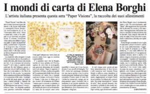 PAPER VISIONS in tour a Melbourne! Elena Borghi, Logos Edizioni. Intervista IL GLOBO journal
