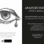 PAPER VISIONS in tour a Melbourne! Elena Borghi, Logos Edizioni. Book signing at Brunswick Bound library - flyer