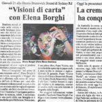 PAPER VISIONS in tour a Melbourne! Elena Borghi, Logos Edizioni. Interview fot IL GLOBO journal.