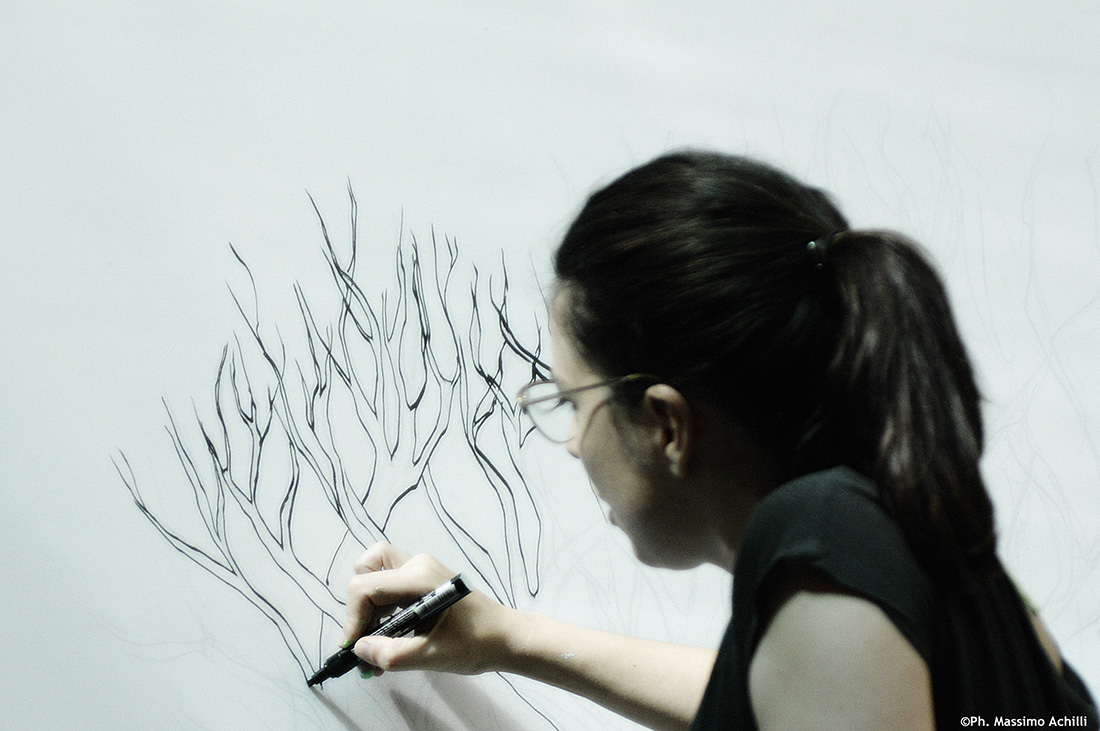 """Under Giant Tree"" live painting"