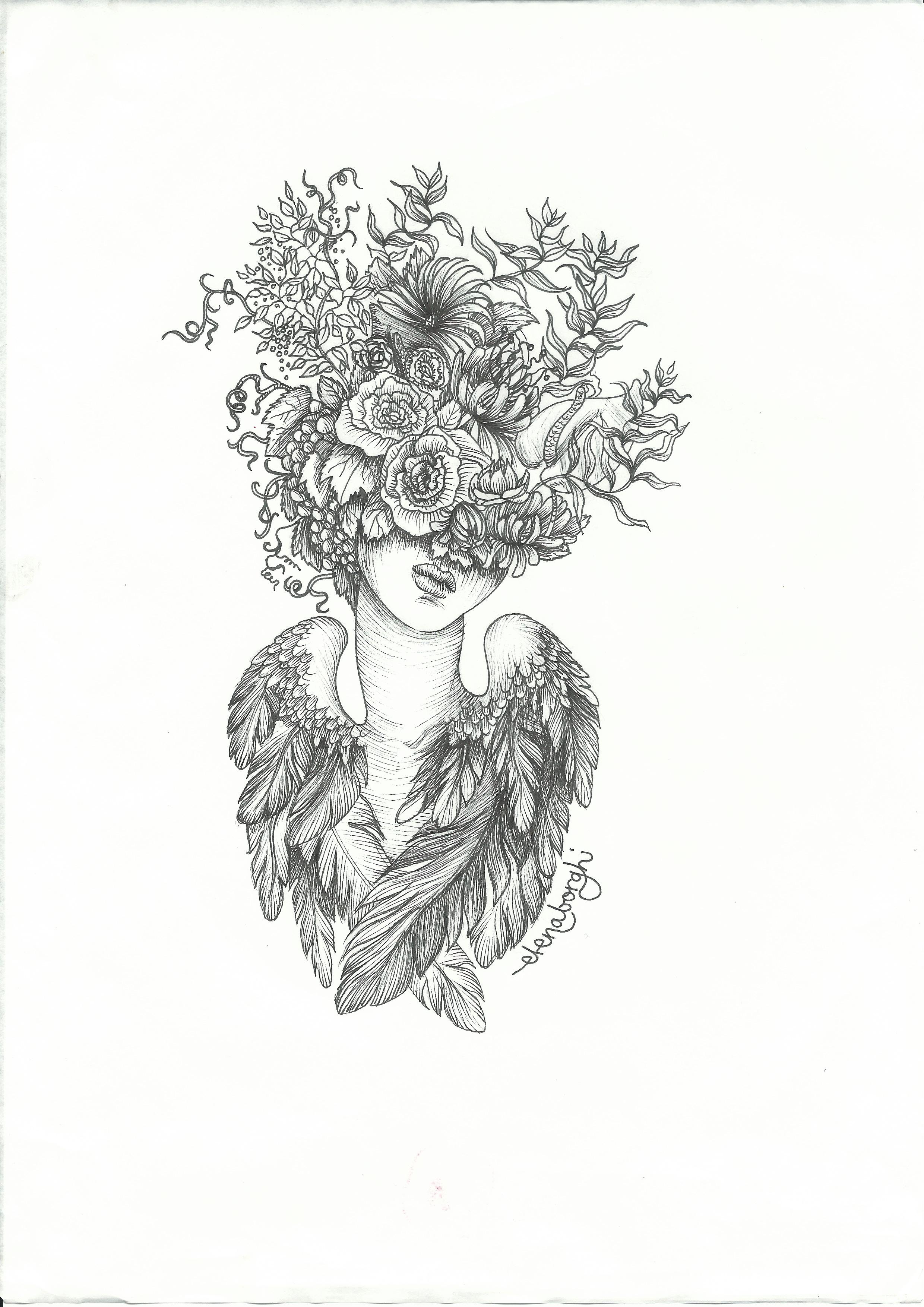 sentīo-wine-prosecco-sketch-illustration-elena-borghi